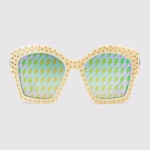 Gucci Oversized Square Frame Star Stud Sunglasses